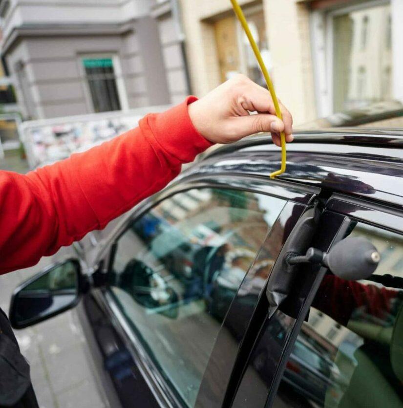Autotüröffnung mit Luftkissen